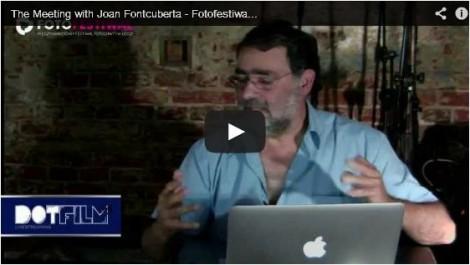 Live streaming Joan Fontcuberta I Fotofestiwal 2013